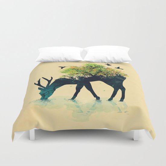 Watering (A Life Into Itself) Duvet Cover