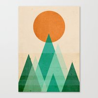 high Canvas Prints featuring No mountains high enough by Picomodi