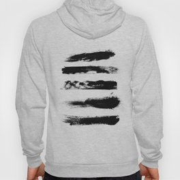 Abstract Black Brushstrokes Hoody