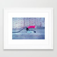 work hard Framed Art Prints featuring hard work by Claudia Drossert