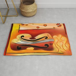 Vioselinna - violin backed beauty Rug