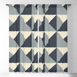 Gray + Cream Origami Geo Tile Blackout Curtain