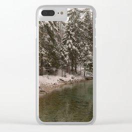 Picturesque Triglavska Bistrica River Clear iPhone Case