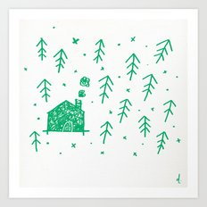 Swimming in the woods Art Print