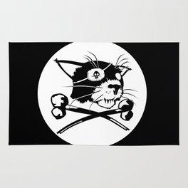 Pirate Cat Flag Rug