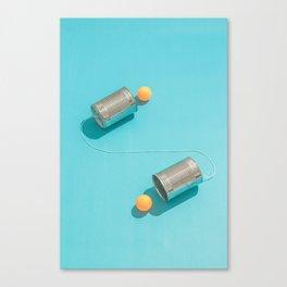 Ping Pong Talk Canvas Print