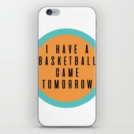 Basketball vine iPhone Skin