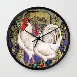 Provencal cock 3 Wall Clock