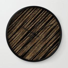 Black Leopard/Cheetah Print Wall Clock