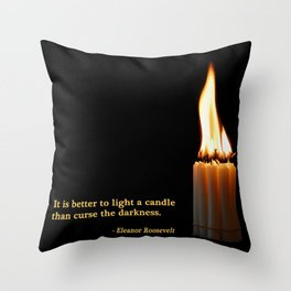A Candle Against The Dark Throw Pillow