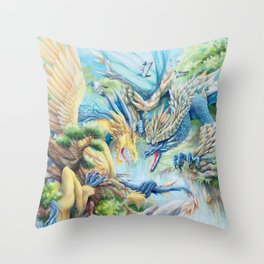 Till Flames Go Out Throw Pillow