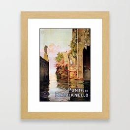 1920 Romantic Lenno Lake Como Framed Art Print