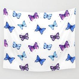 Butterfly Pattern Blue Purple Wall Tapestry
