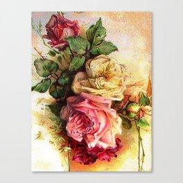 Vintage Rose Bouquet Canvas Print