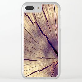Wood texture Clear iPhone Case