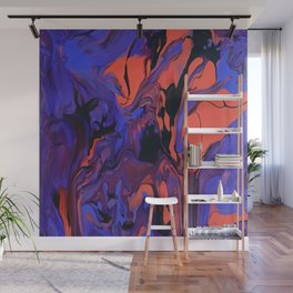 Blue, Teal and Orange Fantasy Wall Mural