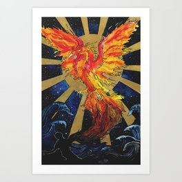 Rise From The Ashes Art Print