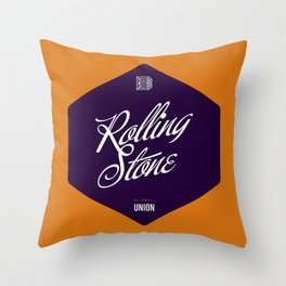 Rolling Stone Throw Pillow