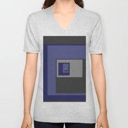 Blue Squares Unisex V-Neck