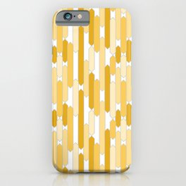 Modern Tabs in Golden Yellows iPhone Case