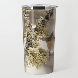 Chickadee and Old Man's Beard - Algonquin Park Travel Mug