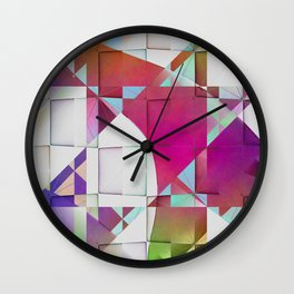 Multicolored abstract no. 64 Wall Clock