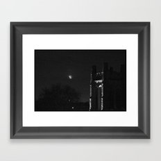 Moon and Tower Framed Art Print