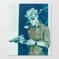 "hunter s thompson Canvas Prints featuring Hunter S. Thompson ""Gonzo"" by Ledo Design"
