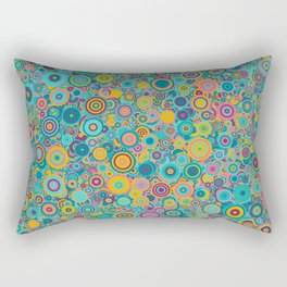 Psychedelic funky Seventies disco party Rectangular Pillow