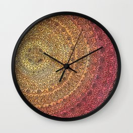 The Center of It All in Color Wall Clock
