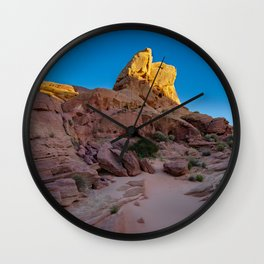 Colorful Sandstone, Valley of Fire - IIIa Wall Clock