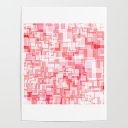 Pink Square Patterns Design Poster