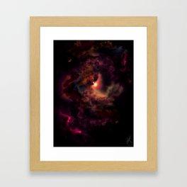 Heavens Lantern Framed Art Print