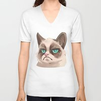 grumpy V-neck T-shirts featuring Grumpy by Corelle_Vairel
