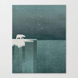 Ursa Major / Polar Bear Art Canvas Print