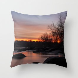 Pony Pasture Sunrise Throw Pillow