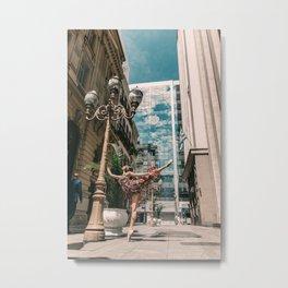 Photography «Dancer on the street» Metal Print