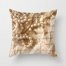 Romantic Letter Throw Pillow