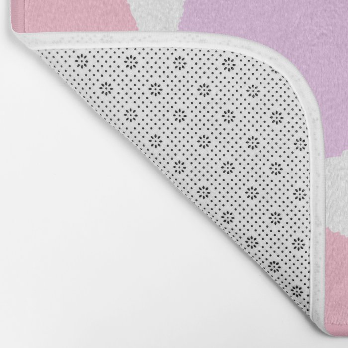 Dots pastels modern minimal dorm college office minimalist decor Bath Mat