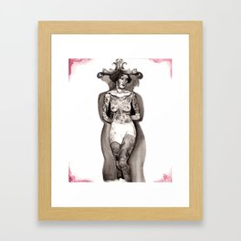 tattooed lady Framed Art Print