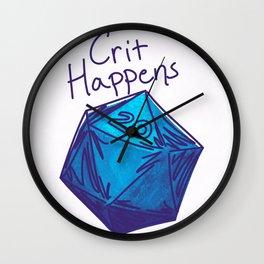 Crit Happens D20  Wall Clock