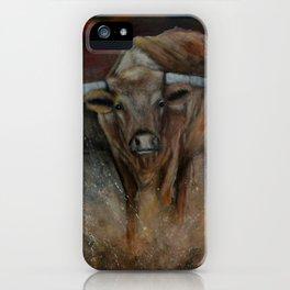 The Texas Longhorn Bull iPhone Case