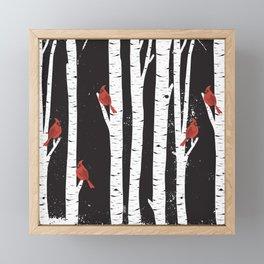 Northern Cardinal Birds Framed Mini Art Print
