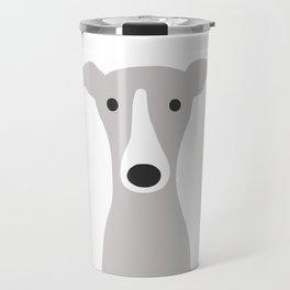 Cute Greyhound / Italian Greyhound Travel Mug