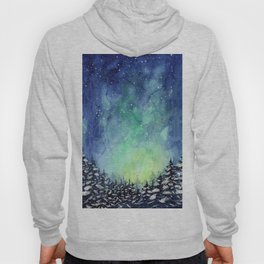Galaxy Enchanted Forest Northern Lights Hoody