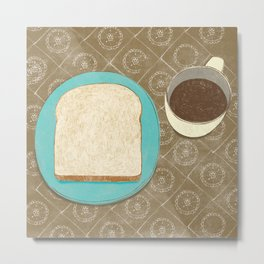 Bread and Coffee Metal Print