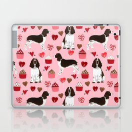 English Springer Spaniel love hearts valentines day gifts for dog person pet friendly pet portrait Laptop & iPad Skin