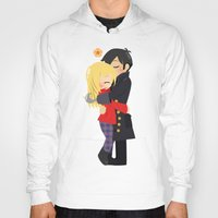 captain hook Hoodies featuring OUAT - Hook and Emma by Choco-Minto