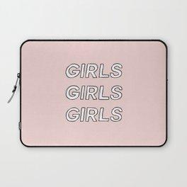 Girls girls girls typography - Girls Gang Prints Laptop Sleeve
