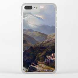 Sidney Richard Percy On the Road to Loch Turret Clear iPhone Case